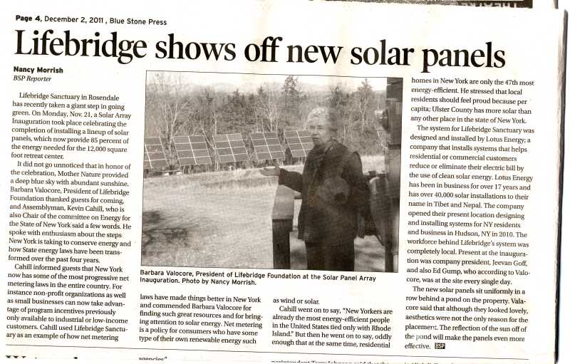 Solar Power Comes to the Sanctuary